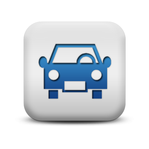 118343-matte-blue-and-white-square-icon-transport-travel-transportation-car